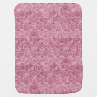 Palidezca - el plástico de burbujas rosado mantas de bebé