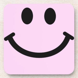 Palidezca - el práctico de costa sonriente rosado  posavaso