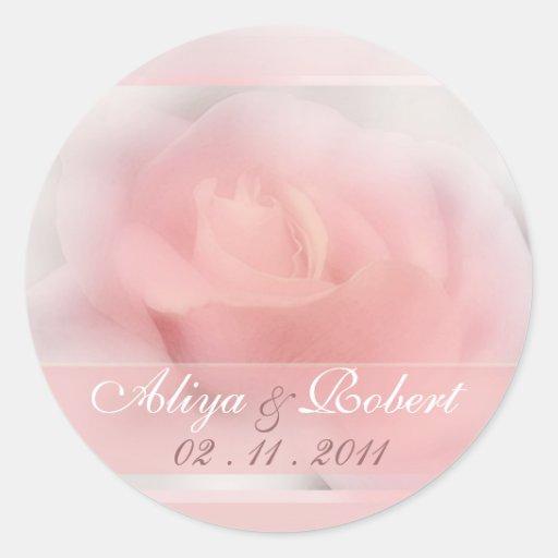 palidezca - el recordatorio color de rosa rosado d etiquetas redondas