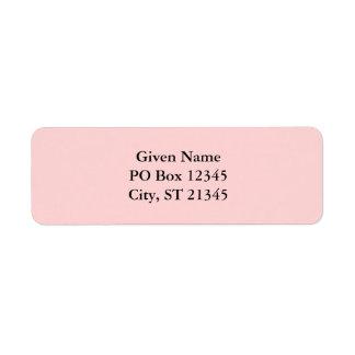 Palidezca - el rosa etiqueta de remite