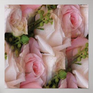 Palidezca - el rosa y los rosas poner crema impresiones