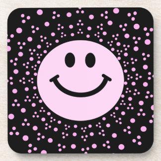Palidezca - la cara sonriente rosada + práctico de posavasos