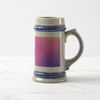 Palidezca - la composición abstracta simple rosada taza