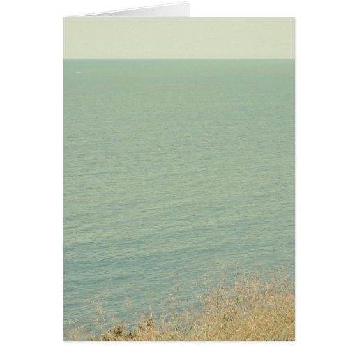 Palidezca - la fotografía verde del océano tarjeta de felicitación