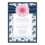 Palidezca - la invitación floral del boda de la