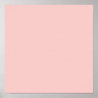 Palidezca - la obra clásica rosada coloreada posters