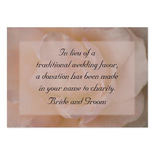 Palidezca - la tarjeta color de rosa rosada de la  tarjeta de visita