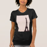 palidezca - la torre Eiffel rosada Camisetas