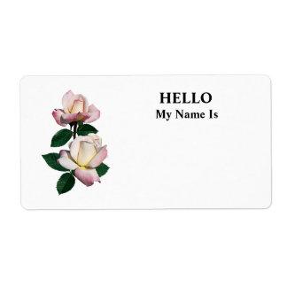 Palidezca - la variedad rosada de los capullos de  etiquetas de envío