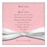 Palidezca - las invitaciones florales rosadas y comunicado