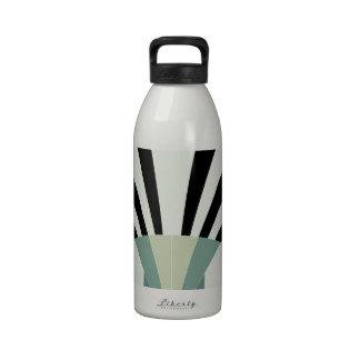 Palidezca - las líneas geométricas verdes botellas de agua reutilizables