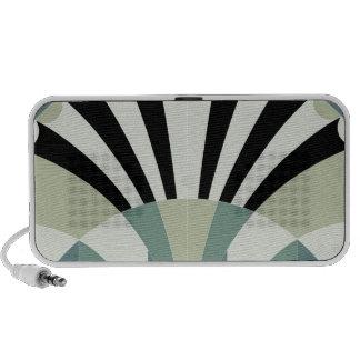 Palidezca - las líneas geométricas verdes notebook altavoz