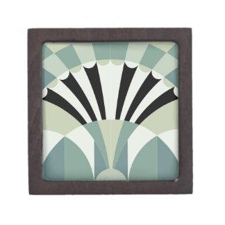 Palidezca - las líneas geométricas verdes caja de regalo de calidad