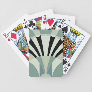Palidezca - las líneas geométricas verdes barajas de cartas