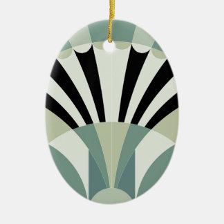 Palidezca - las líneas geométricas verdes ornamento para arbol de navidad