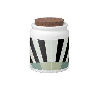 Palidezca - las líneas geométricas verdes jarras para caramelos