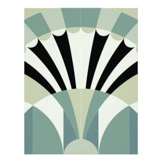 Palidezca - las líneas geométricas verdes membrete a diseño