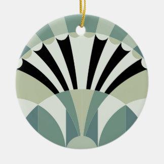 Palidezca - las líneas geométricas verdes ornatos