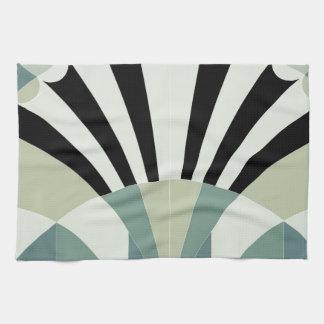 Palidezca - las líneas geométricas verdes toalla de mano