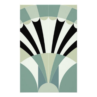 Palidezca - las líneas geométricas verdes papelería