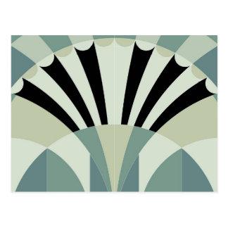 Palidezca - las líneas geométricas verdes postales
