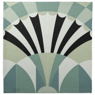 Palidezca - las líneas geométricas verdes servilletas