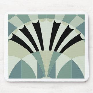Palidezca - las líneas geométricas verdes alfombrilla de raton
