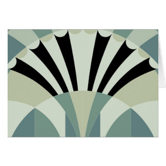 Palidezca - las líneas geométricas verdes tarjetón