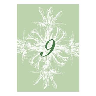 Palidezca las tarjetas florales de la tabla del tarjetas de visita grandes