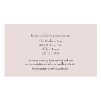 Palidezca - las tarjetas rosadas del recinto del tarjetas de visita