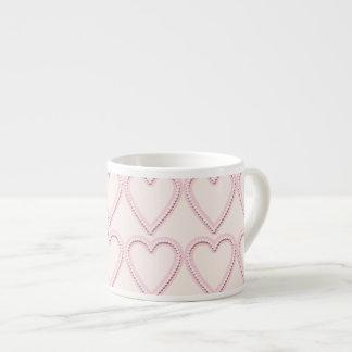 Palidezca - los corazones rosados tazas espresso
