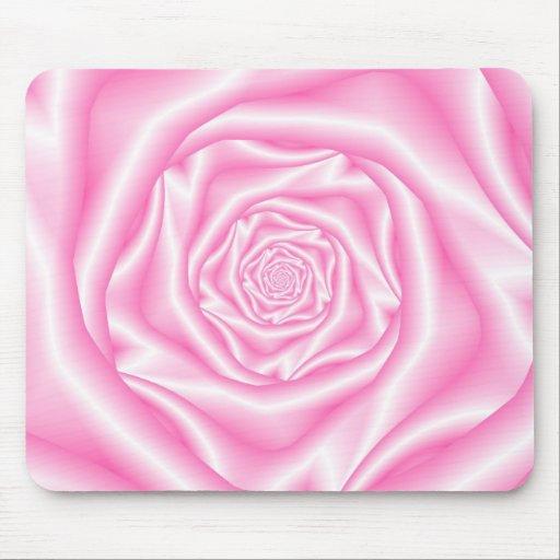 Palidezca - Mousepad color de rosa espiral rosado