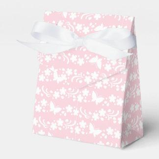 palidezca - rosado, femenino, lindo, floral, caja para regalo de boda