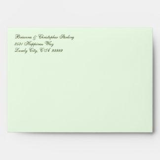 Palidezca - sobres verdes de la invitación - el