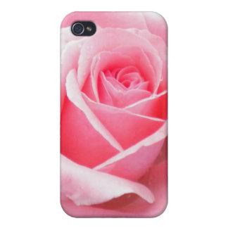 Pálido - caja color de rosa rosada de la mota del iPhone 4 funda