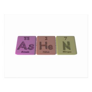 Pálido-Como-Él-n-arsénico-helio-Nitrógeno Postales