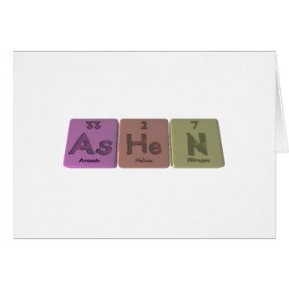 Pálido-Como-Él-n-arsénico-helio-Nitrógeno Tarjeta De Felicitación