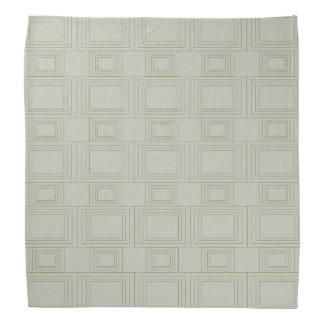 Pálido - el verde apiló diseño del rectángulo bandana