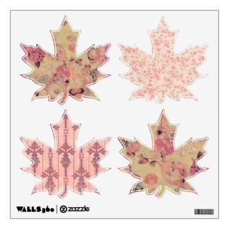 Pálido - el victorian rosado deja los pedazos del