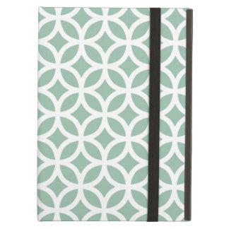 Pálido geométrico - caja verde del aire del iPad