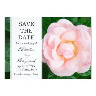 """Pálido romántico - reserva color de rosa rosada invitación 5"""" x 7"""""""