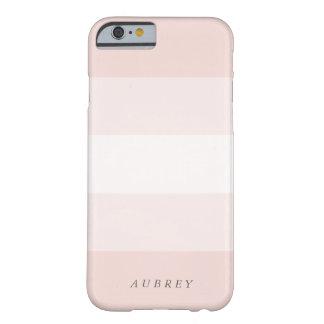 Pálido se ruboriza la pendiente rosada Colorblock Funda De iPhone 6 Barely There