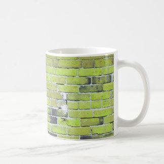 Pálido - textura verde de la pared de ladrillo del