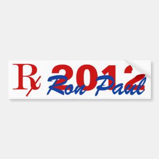 Palillo 2012 del parachoque de Ron Paul del candid Pegatina Para Auto