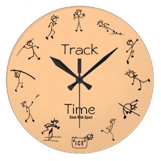 Palillo con el reloj del Decathlon del tiempo de l