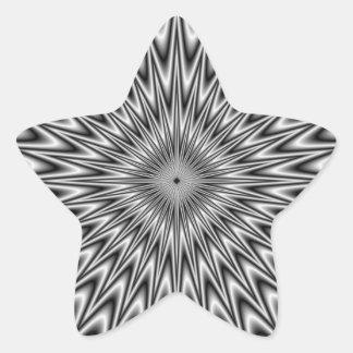 Palillo cuadrado de plata pegatina en forma de estrella
