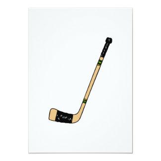 """Palillo de hockey invitación 5"""" x 7"""""""