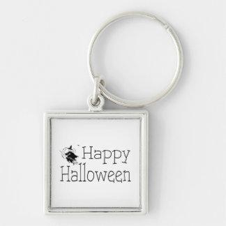 Palillo de la escoba de bruja del feliz Halloween Llaveros