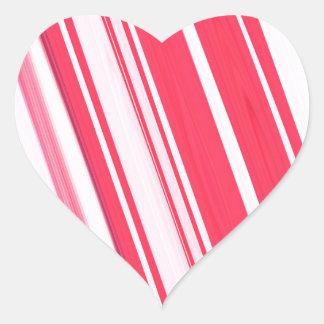 Palillo de la hierbabuena pegatina de corazón