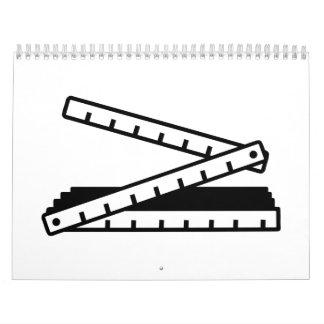 Palillo de la yarda del metro plegable calendario